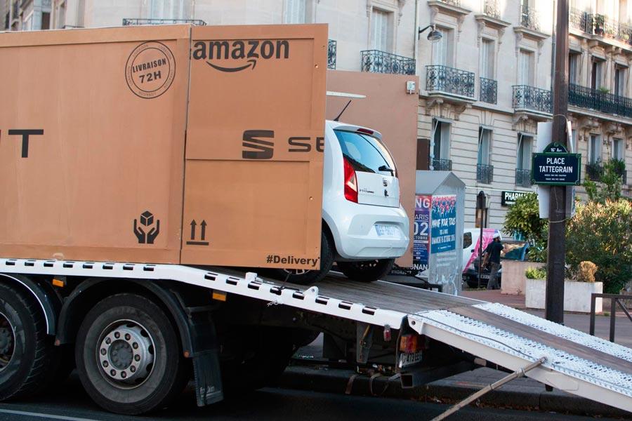 Amazon prepara una flota de vehículos sin conductor