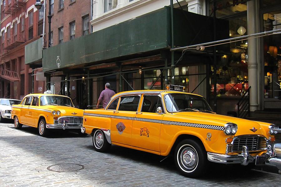 Los taxis de Nueva York son también omnipresentes en el cine.