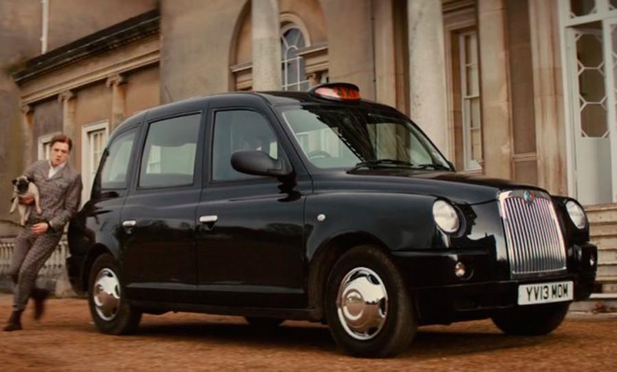 El taxi de Londres es también otro icono de las pantallas.