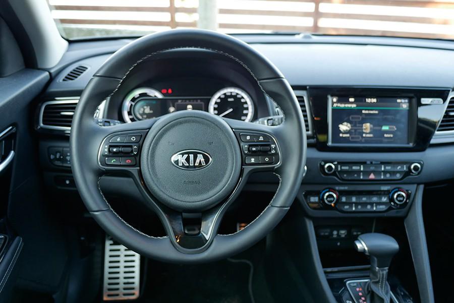 El interior del Kia Niro es acogedor.