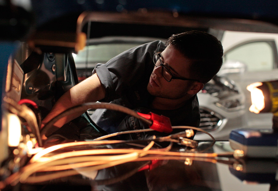 Cada elemento del coche autónomo está calibrado para su respuesta a tiempo real.