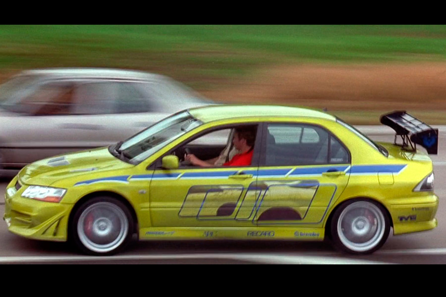 "Mitsubishi Lancer Evo VII, el coche de O'Conner en ""2 Fast 2 Furious""."