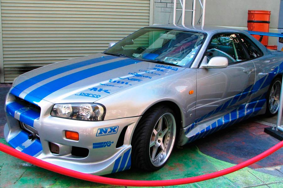 "Nissan Skyline GT-R R34, el coche de O'Conner en ""2 Fast 2 Furious""."
