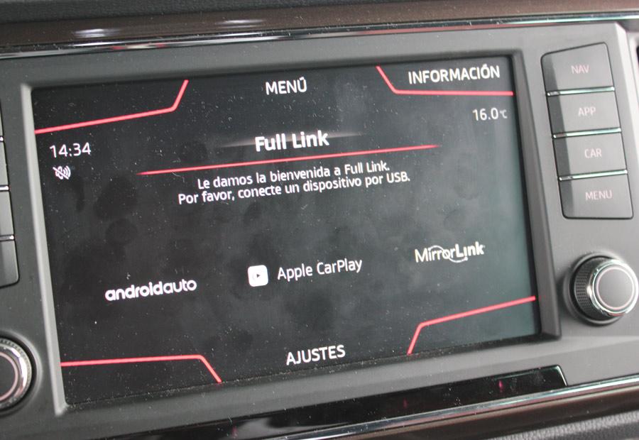 En el Seat Ateca podemos conectar Smarthphones Android y Apple.