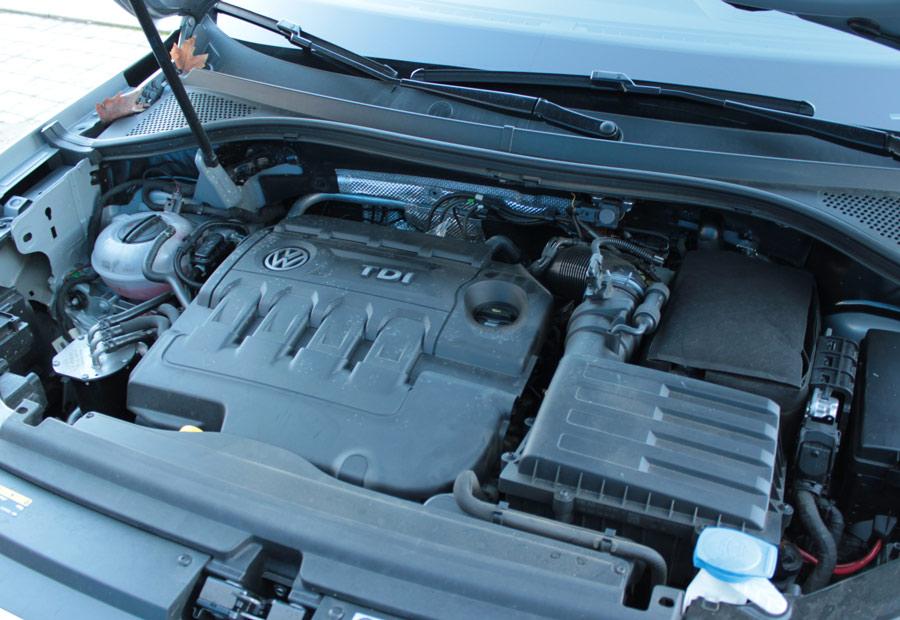 Todos los motores del VW Tiguan están colocados en posición transversal.
