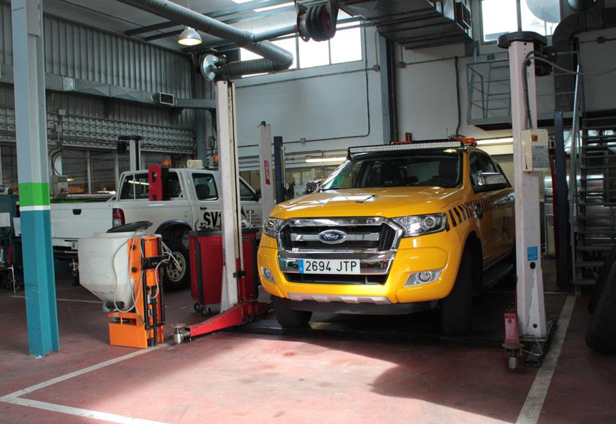 Pasado el periodo de garantía, Aena se encarga del mantenimiento de sus vehículos.