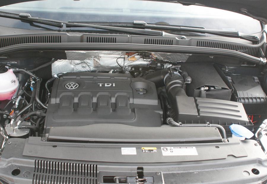 El motor TDI de 150 CV ha ganado 10 CV con respecto al anterior y 20 Nm de par máximo.