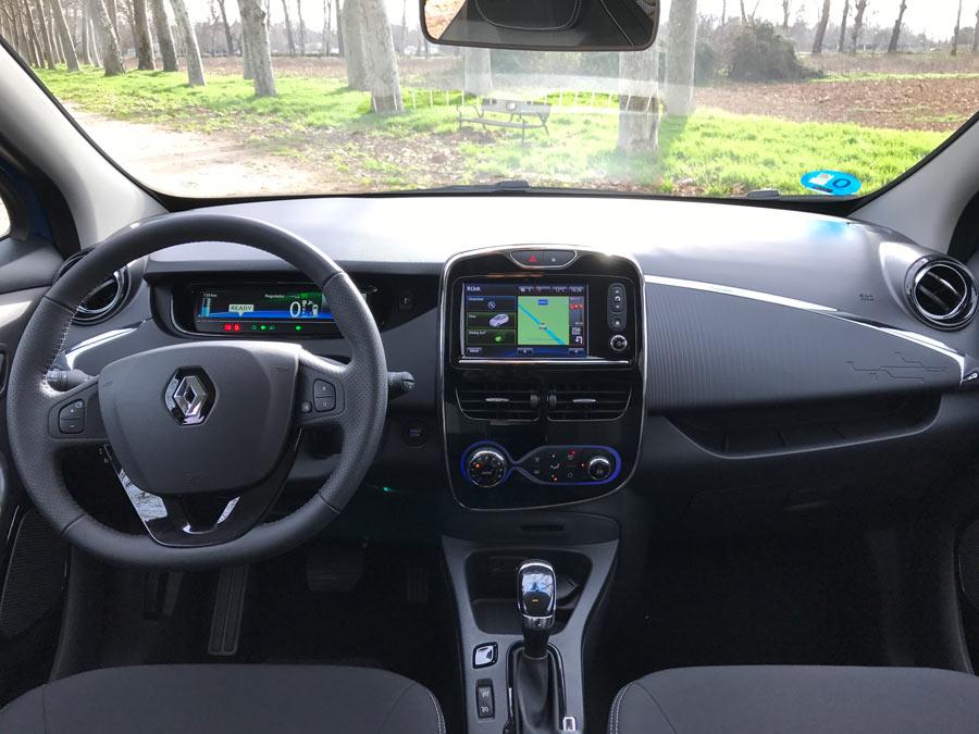 Interior del Renault Zoe.