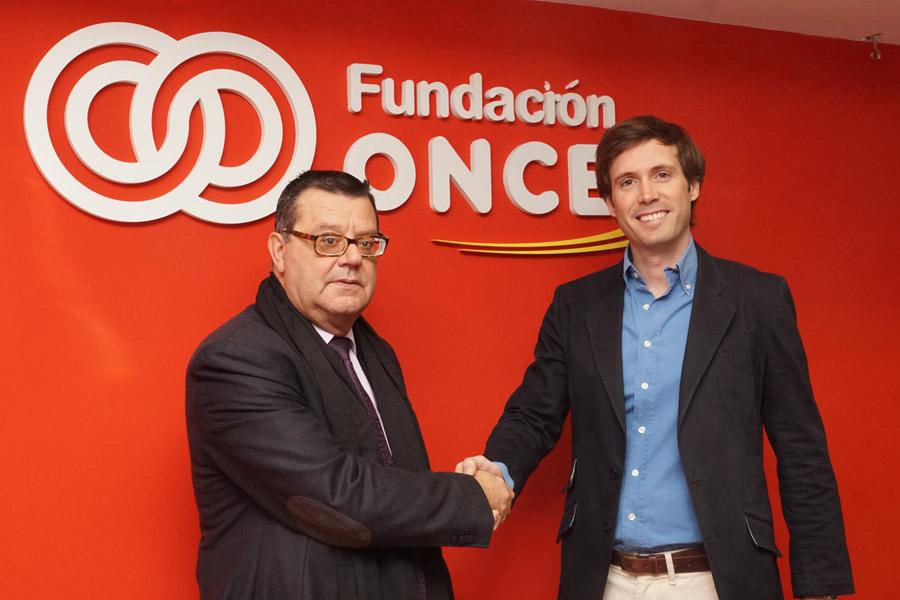 Foto del acuerdo entre GasPay y Fundación ONCE.