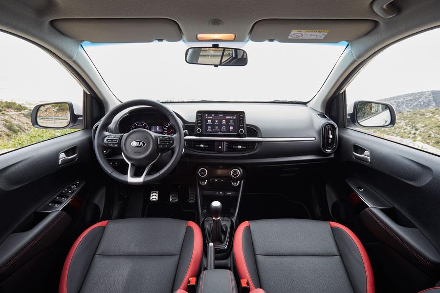 El interior del Kia Picanto resulta muy moderno.