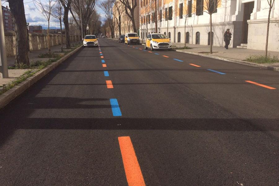 ¿Qué significan estas líneas azules y naranjas en las zonas SER?