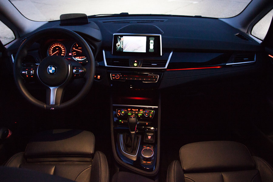 La calidad del interior del BMW Serie 2 Gran Tourer está por encima de la media del segmento.