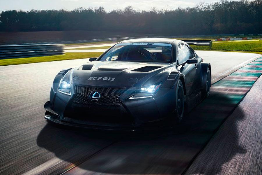 EL Lexus RC F GT3 correrá en Estados Unidos, Japón y Europa.