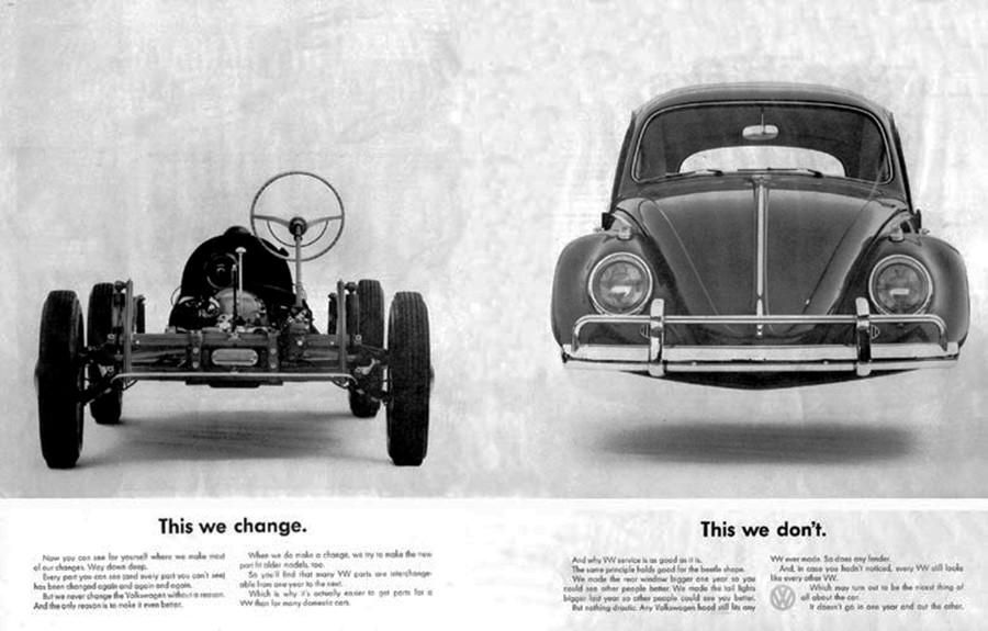 La publicidad de Volkswagen creada por la compañía DDB fue absolutamente genial.