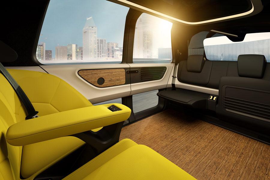 Interior del Volkswagen Sedric concept.