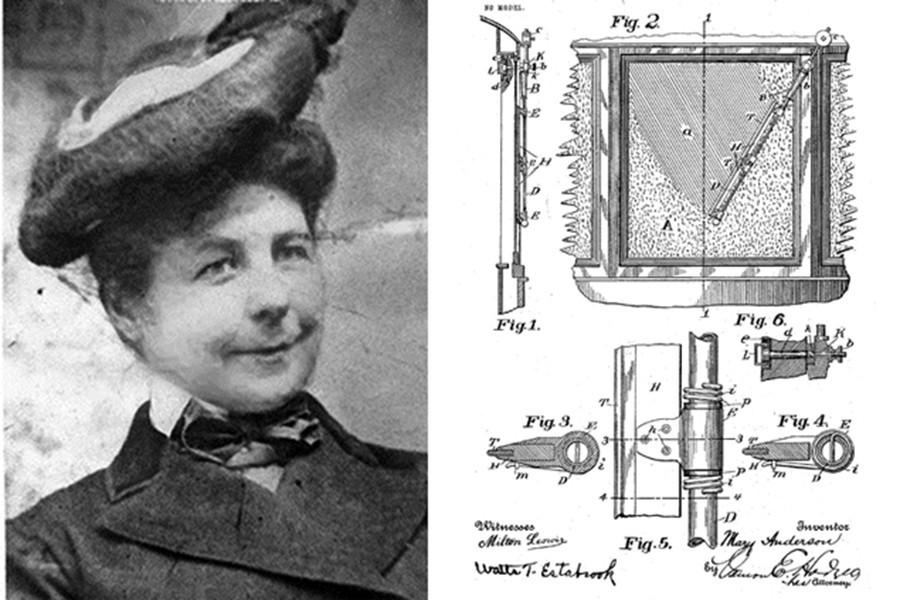 Mary Anderson fue la persona que inventó los limpiaparabrisas en los coches.