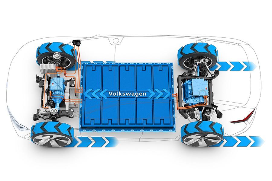 Dos motores con cajas de cambio y baterías con un total de 306 CV.