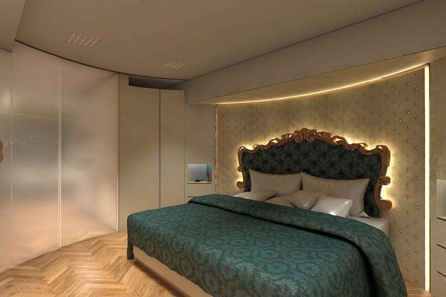 Sí, este dormitorio está en una autocaravana.