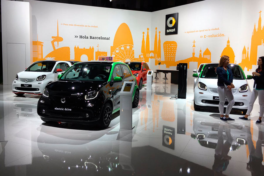 Smart y su movilidad eléctrica, presentes en el Automobile Barcelona