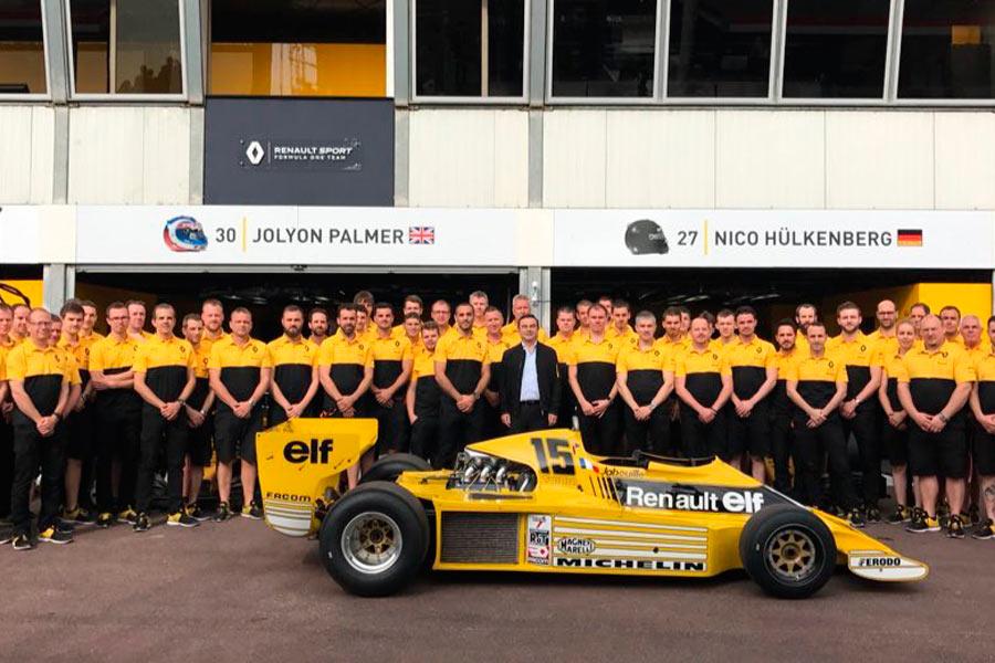Renault celebra su 40 aniversario en la Fórmula 1.
