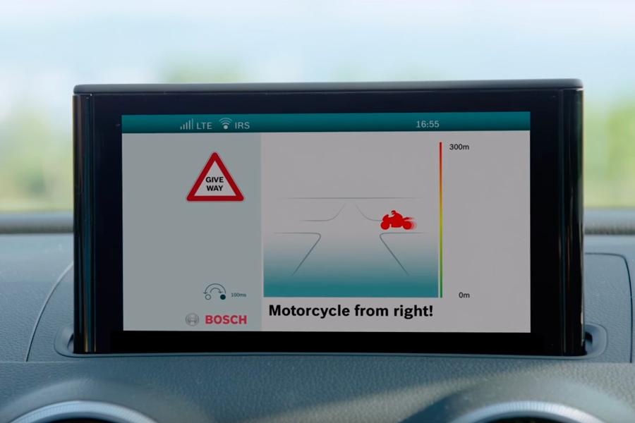 Bosch está trabajando en un escudo de protección digital para motos