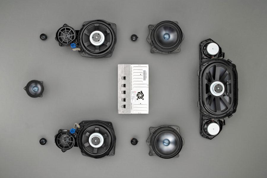 Posible distribución del equipo de música