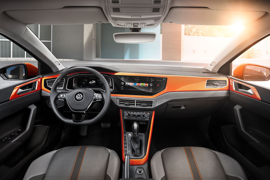 Interior del nuevo Volkswagen Polo R-Line 2017.