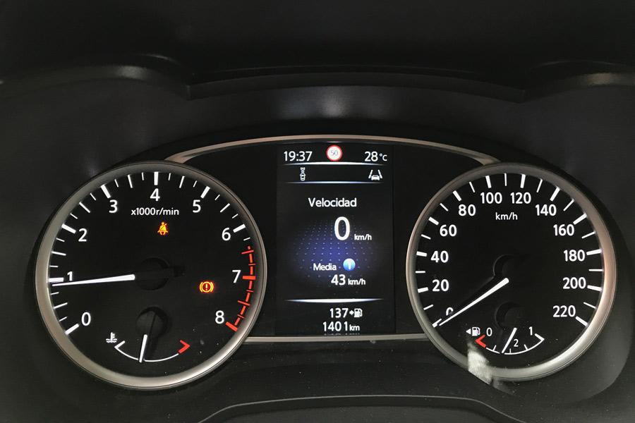 Instrumentación del nuevo Nissan Micra.