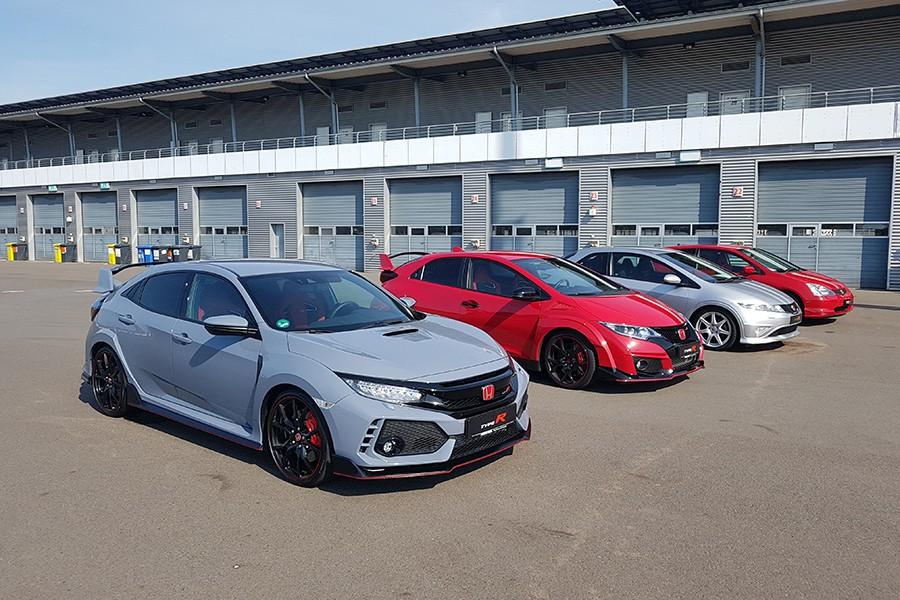 Las cuatro generaciones del Civic Type R.