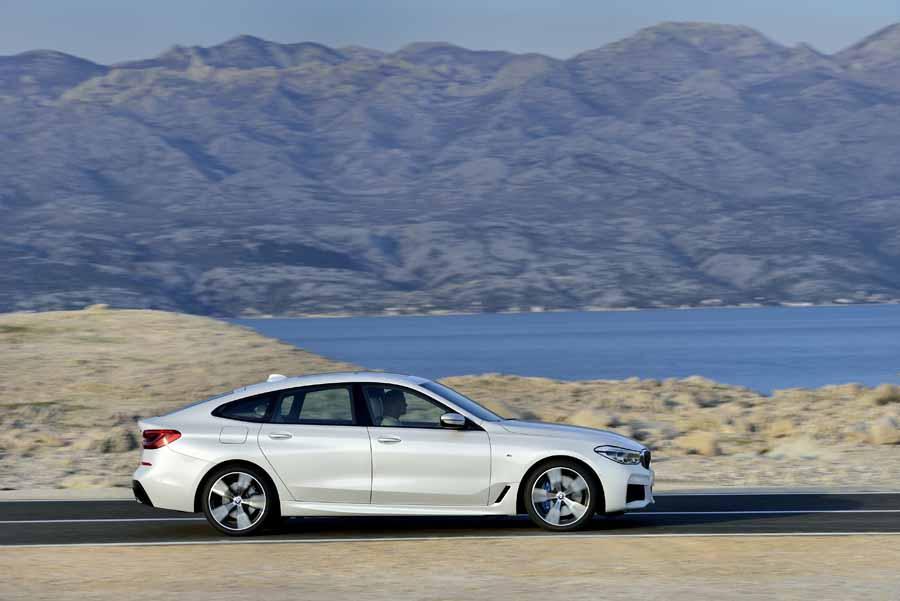 El perfil del BMW Serie 6 Gran Turismoevidencia su procedencia bávara.
