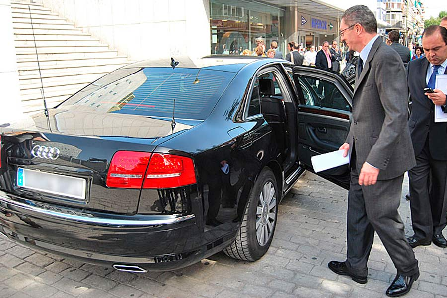 Gallardón, en su época de ministro, escogió el mismo modelo que Rajoy: un Audi A8.