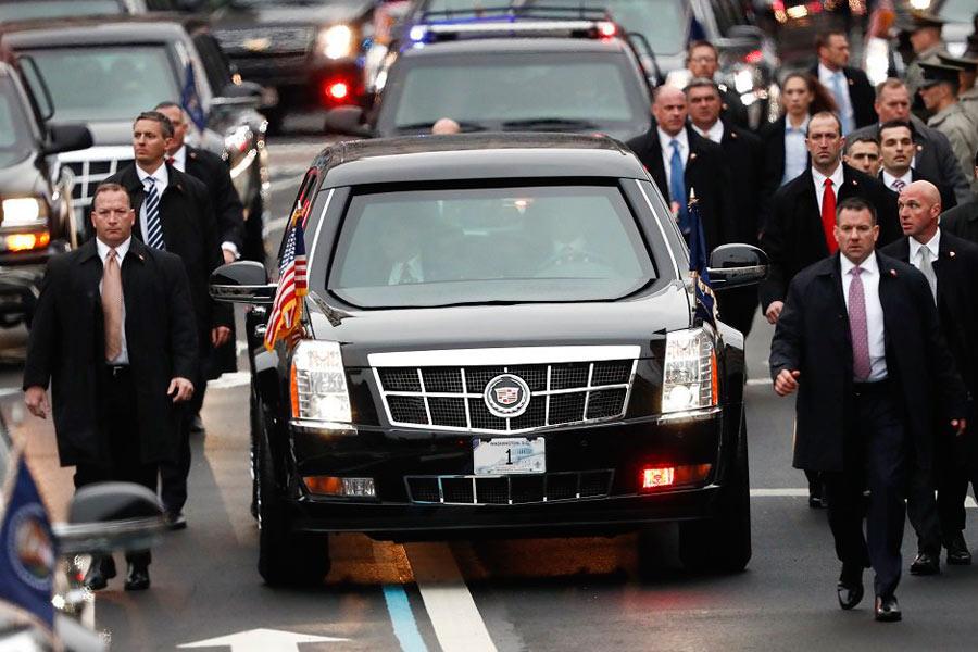 Sin duda, el coche presidencial más seguro es el Cadillac One del todopoderoso presidente de los Estados Unidos.