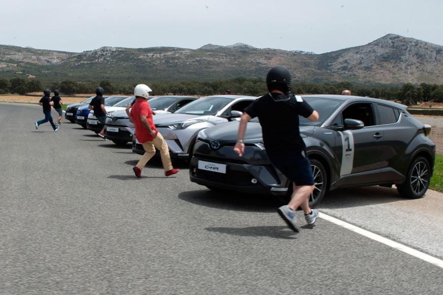 La salida fue al estilo Le Mans.