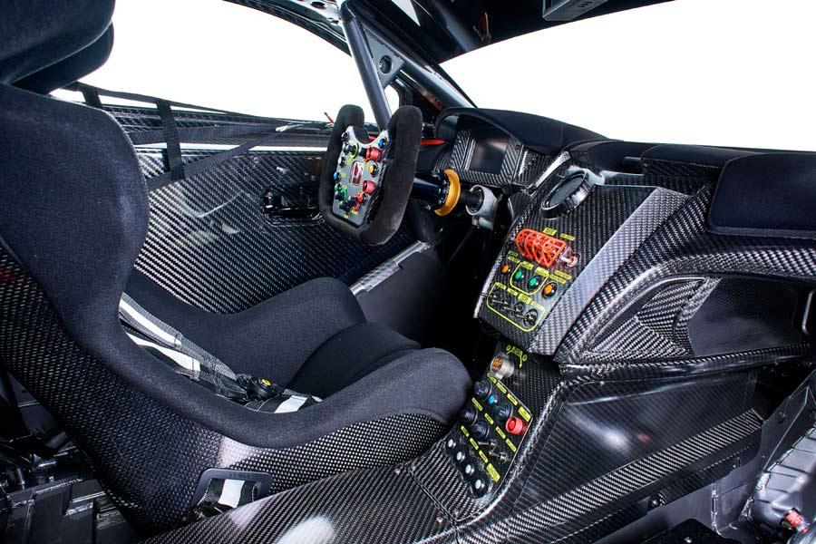 Interior del Honda NSX GT3.