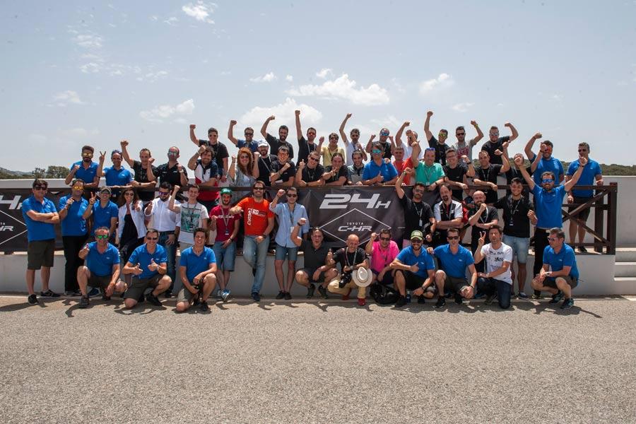 Todos los participantes y organizadores, a la conclusión de la prueba.