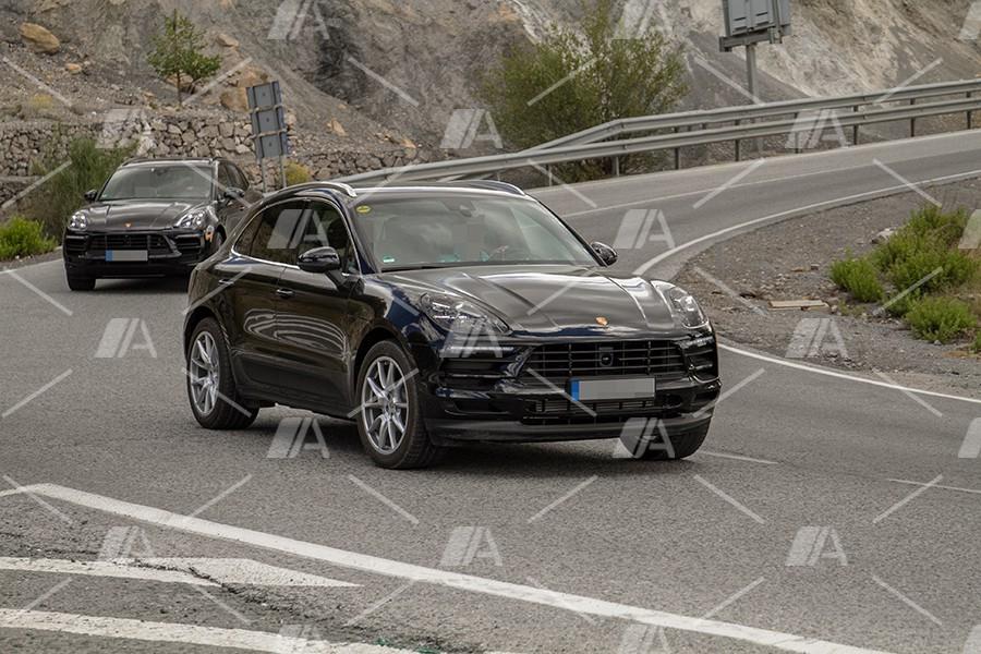 Fotos espía del lavado de cara del Porsche Macan 2018