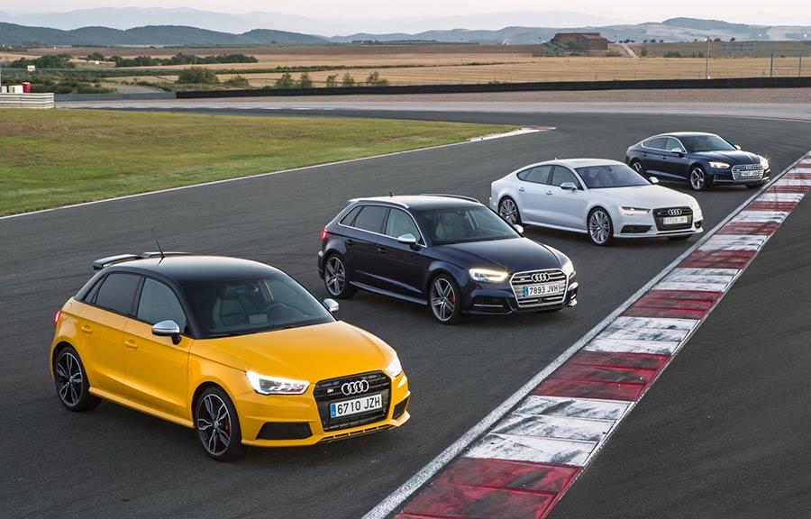 Gama Audi S 2017 en el circuito de Navarra