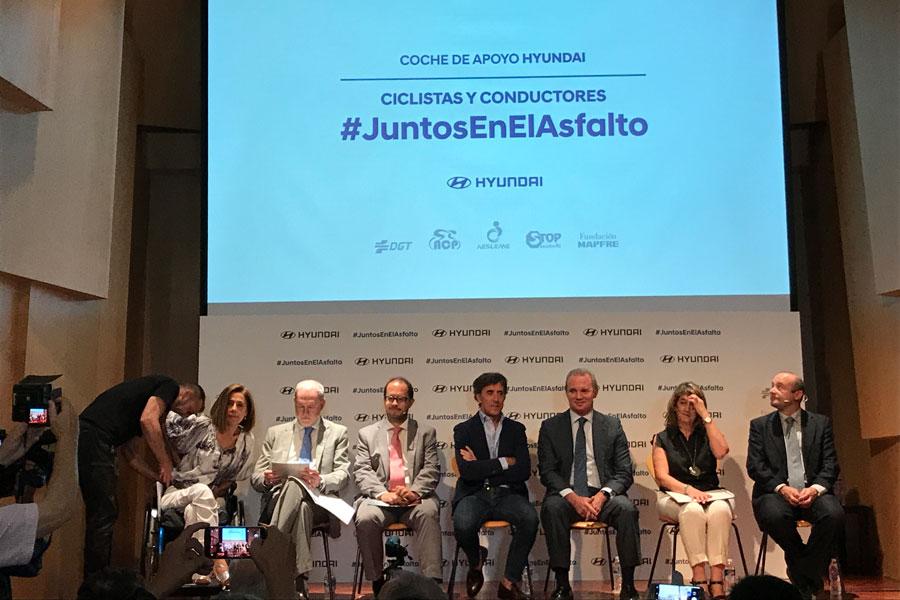El ex ciclista Perico Delgado, embajador de la campaña de Hyundai.