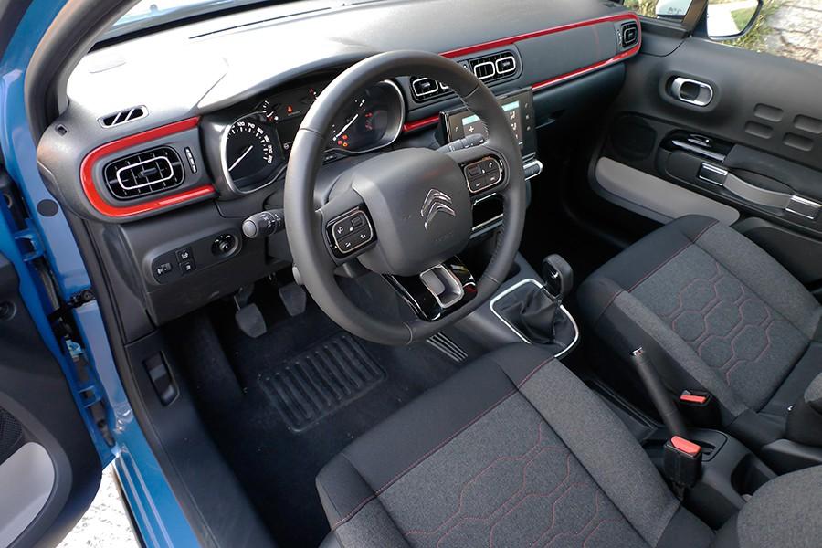 El interior del C3 es amplio y cómodo.