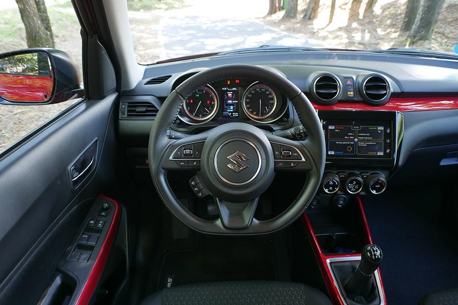 El interior del Swift está entre los mejores de su categoría, por diseño y espacio.