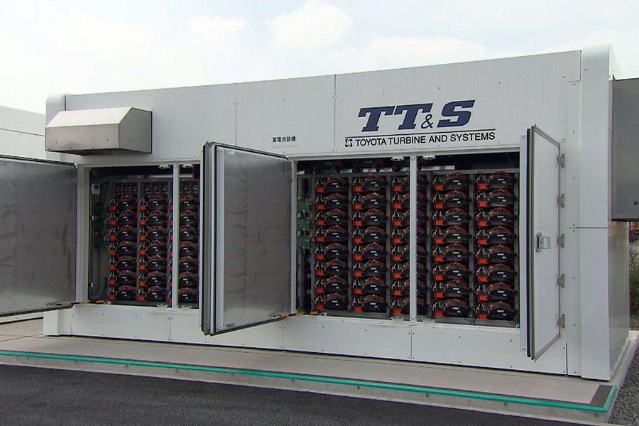 Sistema de almacenamiento del hidrógeno en baterías de Prius.