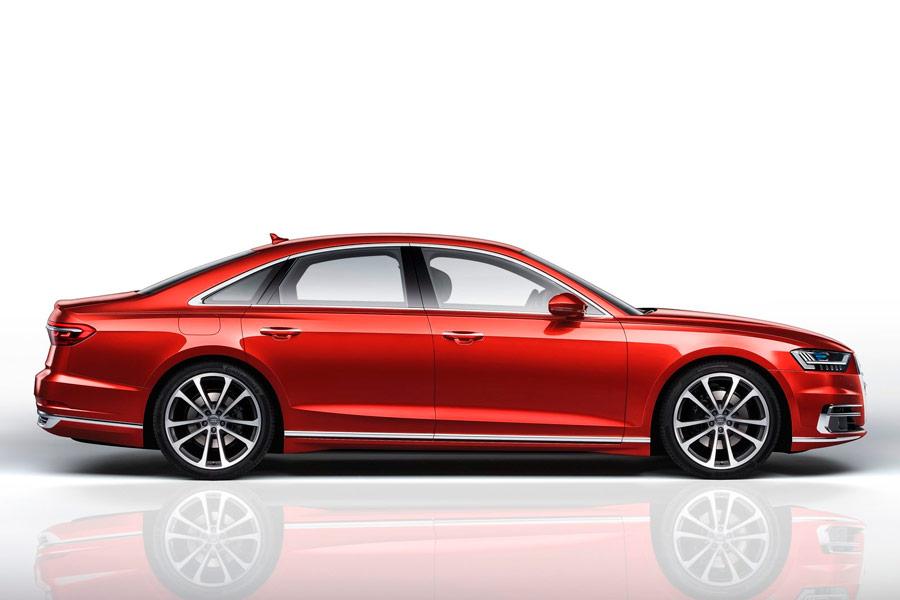 El perfil de la nueva generación de Audi A8 es lo más familiar para todos nosotros.