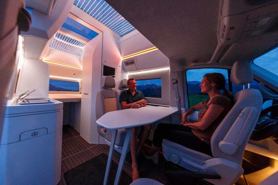 Volkswagen California XXL Concept interior.