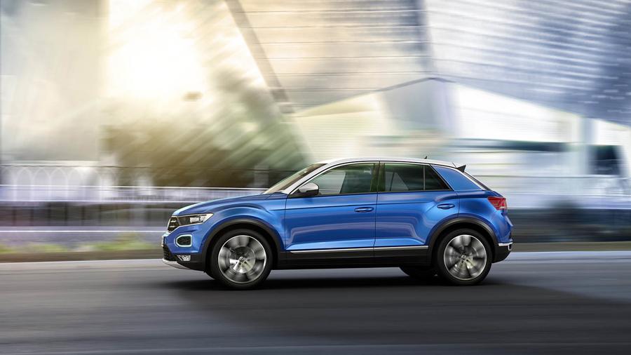 El lateral del Volkswagen T-ROC se asemeja al Audi Q2.