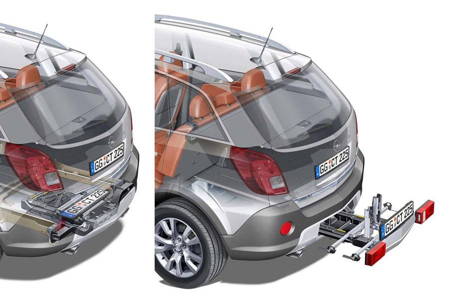 Opel y su cómodo sistema de transporte de bicicletas FlexFix, que está incorporado en el propio coche.
