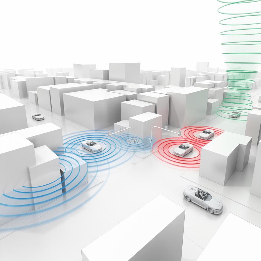 Audi trabaja en la conectividad con otros automóviles.