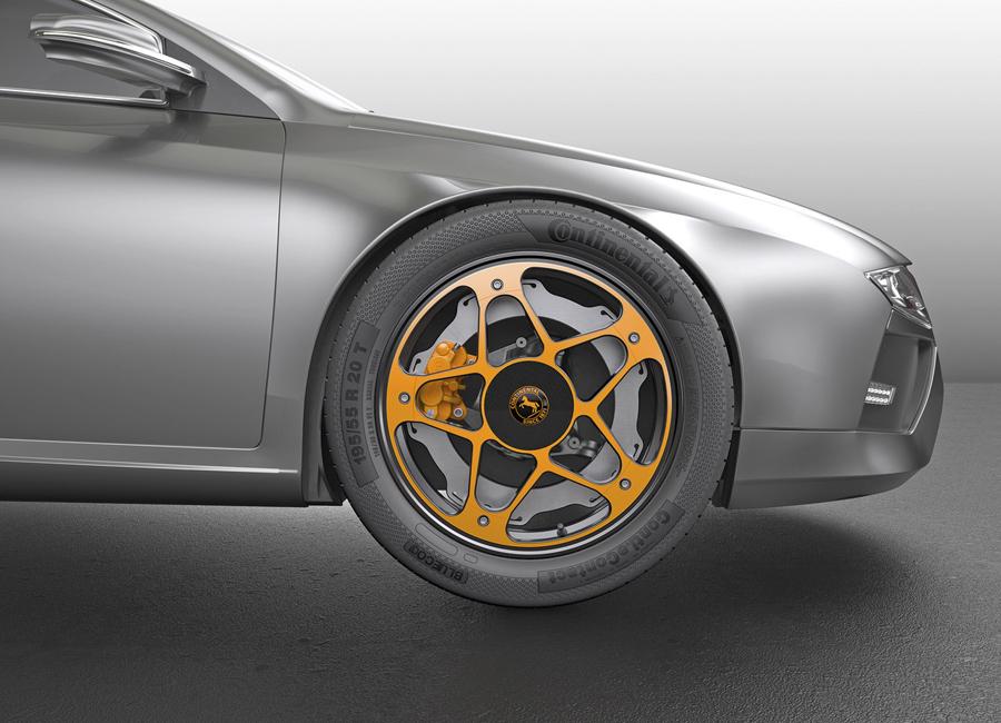 "Sistema ""New Wheel"" montado en un vehículo."