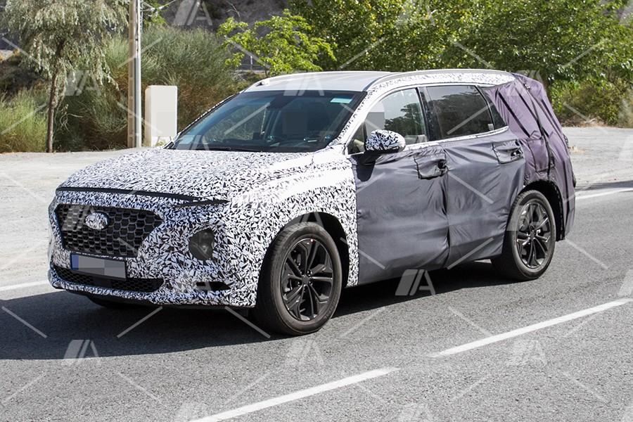 Fotos espía del nuevo Hyundai Santa Fe 2018