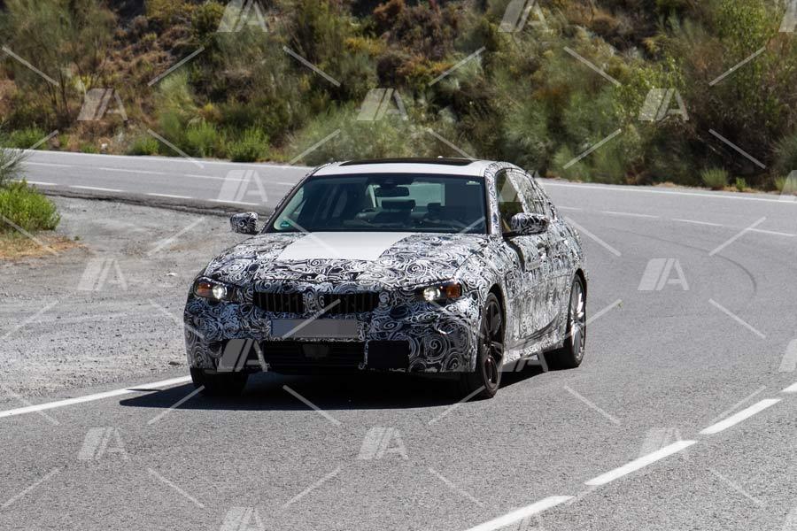 Fotos espía del BMW Serie 3 PHEV 2018