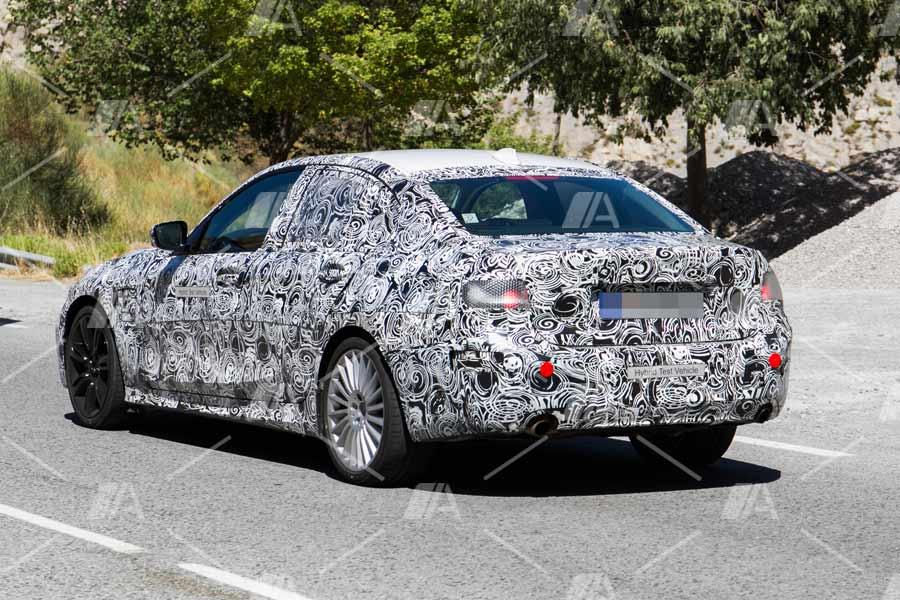 Fotos espía BMW Serie 3 eDrive 2018.
